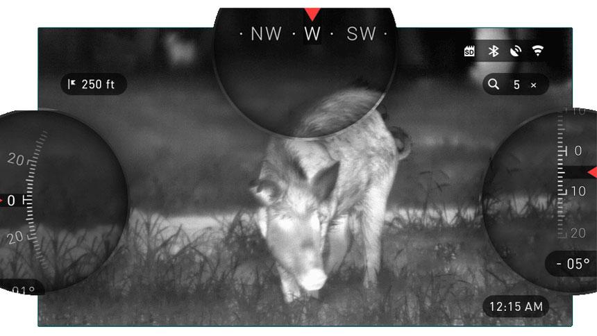 美国 ATN OTS-HD 384 1.25-5x 热成像仪 热搜 WIFI GPS 拍照摄像取证