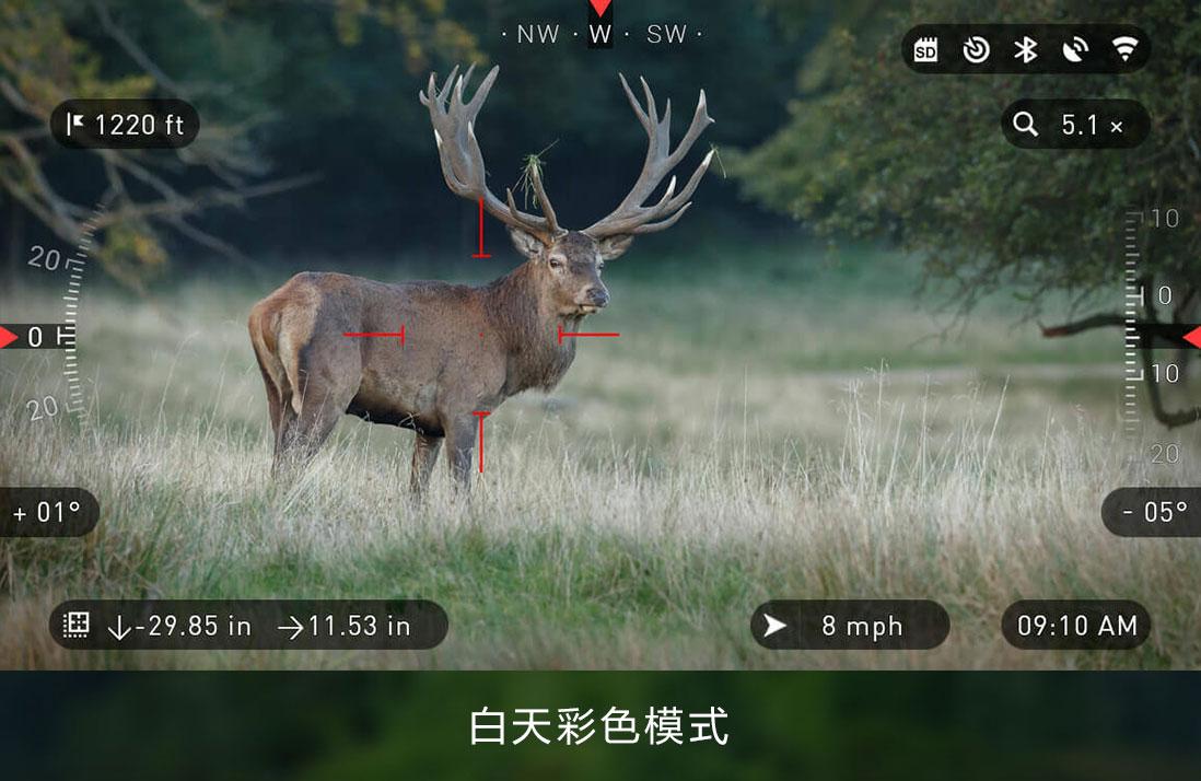 ATN X-SIGHT II HD 5-20x智能数码昼夜两用夜视瞄准镜